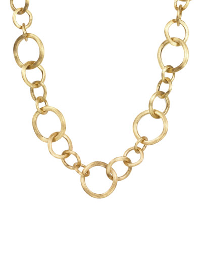 Jaipur 18K Gold Link Necklace, 18