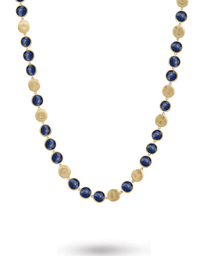 Jaipur 18K Lapis Station Necklace, 30