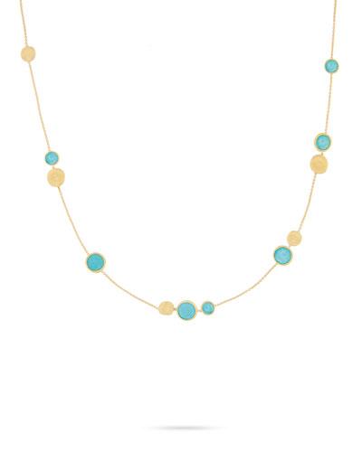 Jaipur Turquoise Station Necklace, 18