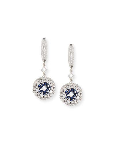 Ponpon Diamond & Blue Sapphire Earrings