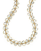 18K Polished Rock Candy Drop-Shaped Mother-of-Pearl Necklace