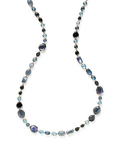 18K Rock Candy Sofia Necklace in Midnight Rain, 39.5
