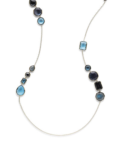 18K Rock Candy Gelato Hero Necklace in Midnight Rain, 42