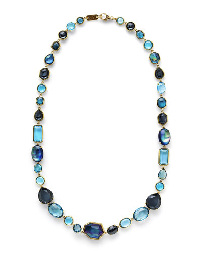 18K Rock Candy Sofia Necklace in Midnight Rain, 18