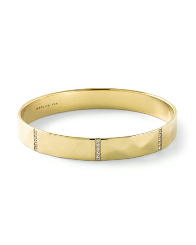 18K Senso™ Five-Section Bangle with Diamonds