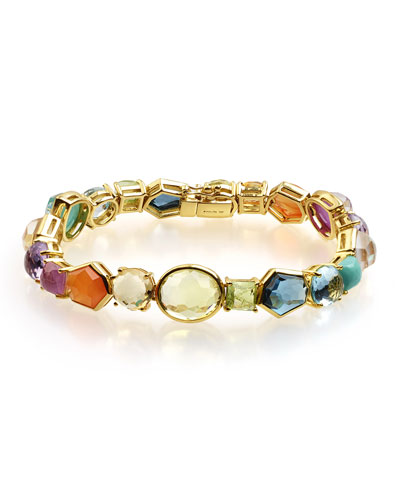 18k Rock Candy® Tennis Bracelet in Summer Rainbow