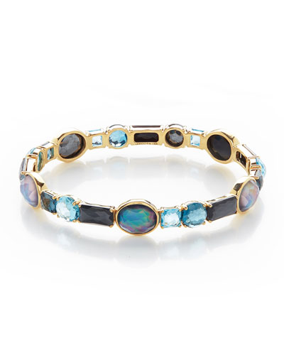 18K Rock Candy Mixed-Set Bangle Bracelet in Midnight Rain