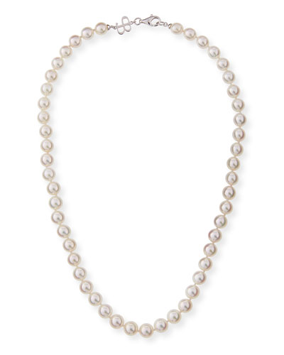 8.5mm Akoya Pearl Necklace in 18K White Gold, 18