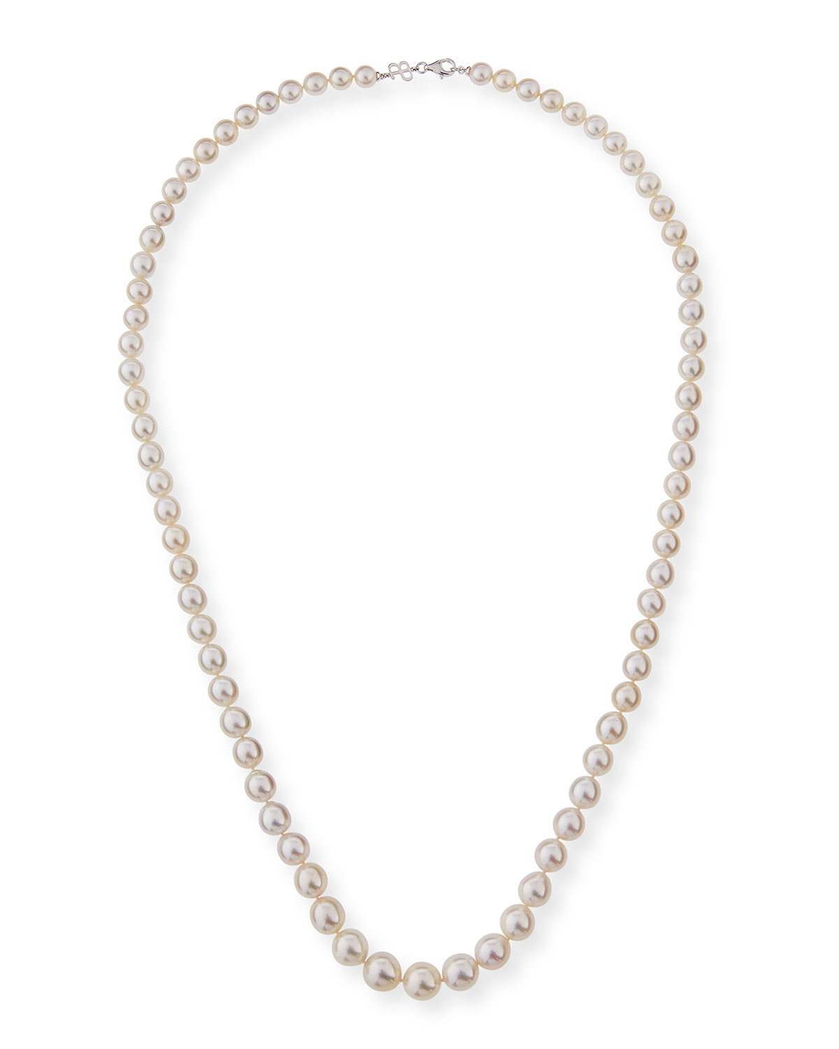 """BELPEARL 13Mm South Sea Pearl Necklace In 18K White Gold, 36""""L"""