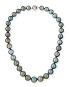 Tahitian Black Pearl Necklace, 18""