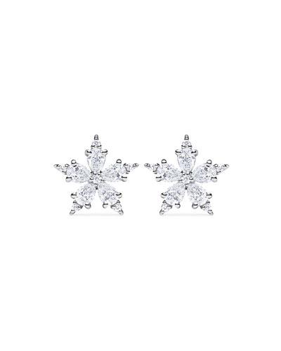 Mini Stellanise Diamond Floral Stud Earrings