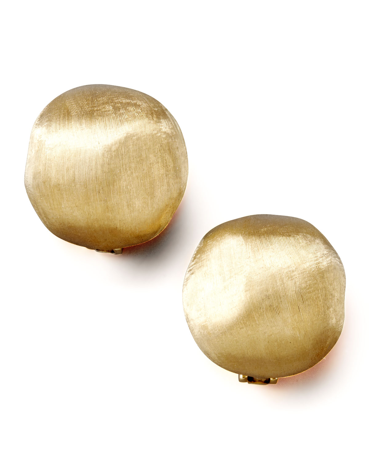 Africa Textured Gold Stud Earrings