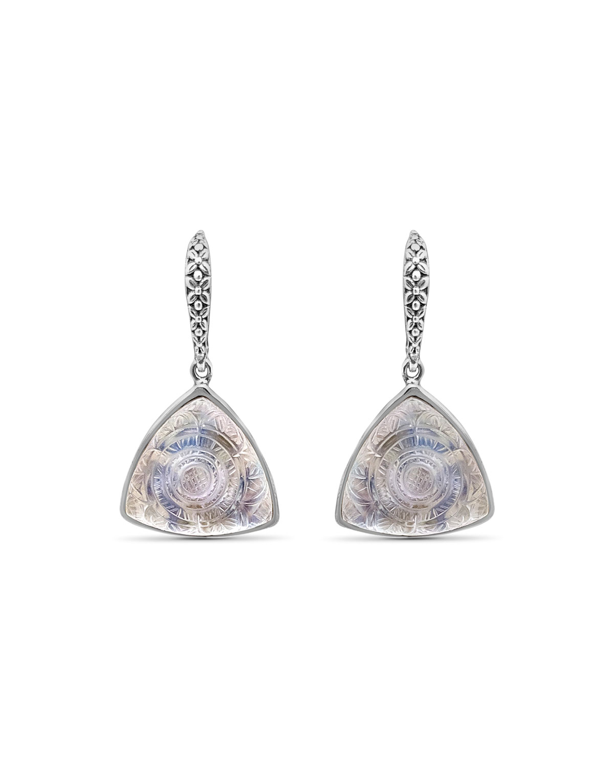 STEPHEN DWECK Carved Crystal Quartz Triangle Drop Earrings