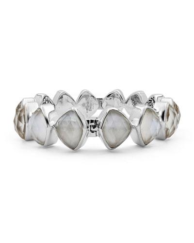 Freeform Crystal Hinge Bracelet