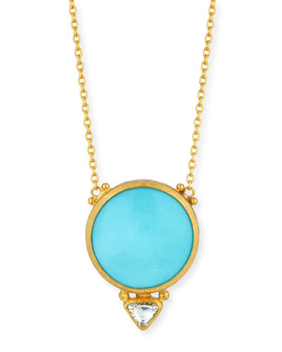 Amulet Hue Sleeping Beauty Turquoise & Diamond Pendant Necklace