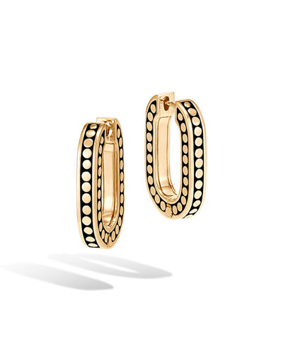 Dot 18k Small Link Hoop Earrings