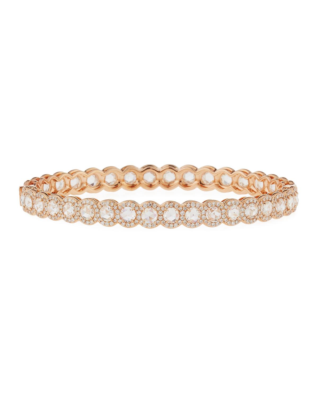 18K Rose Gold & Rose-Cut Diamond Bracelet