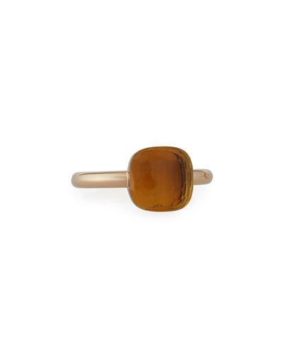 Nudo 18k Madeira Quartz Ring, Size 54