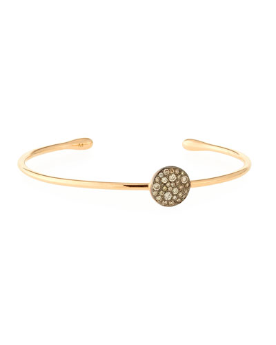 Sabbia Brown Diamond Station Bracelet in 18K Rose Gold
