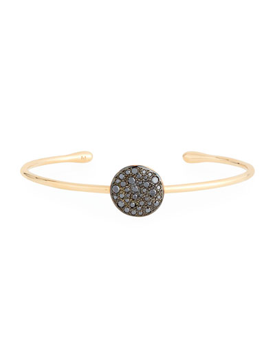 Sabbia Black Diamond Station Bracelet in 18K Rose Gold