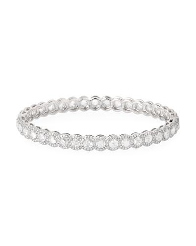 Rose-Cut Diamond Bangle in 18K White Gold