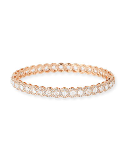 Rose-Cut Diamond Bangle in 18K Rose Gold