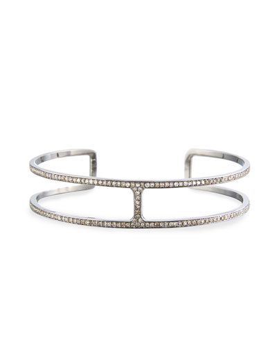 H-Shaped Diamond Cuff Bracelet