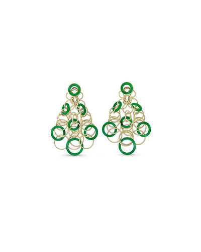 Hawaii Jade Circle Earrings in 18K Gold
