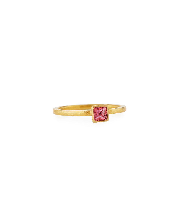 Delicate Hue Pink Topaz Ring