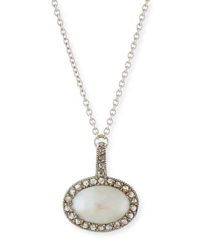 Edwardian Pearl Necklace with Diamonds