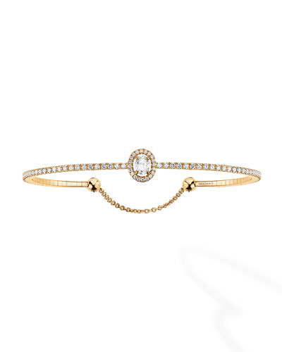 Glam'Azone Diamond Bracelet in 18K Yellow Gold