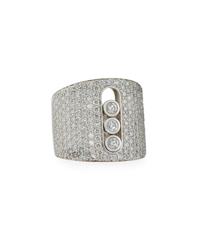 Move Large Pavé Diamond Ring, Size 6.5