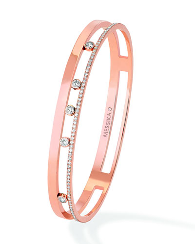 Move Romane 18K Rose Gold Bangle with Diamonds