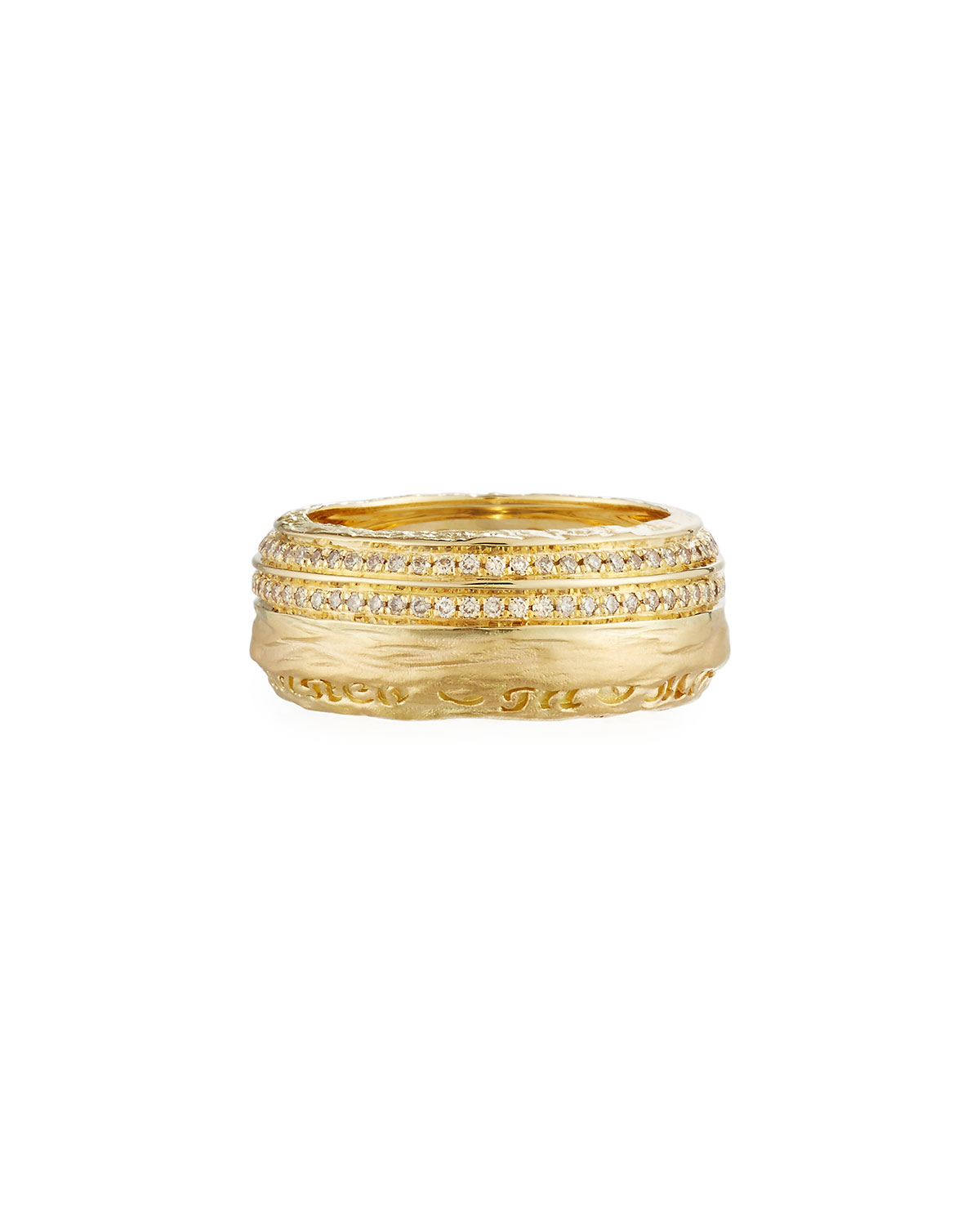 The Other Half Men's 18K Band Ring with Diamonds