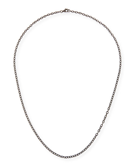 Margo Morrison Rhodium-Plated Sterling Silver Chain Necklace, 24""