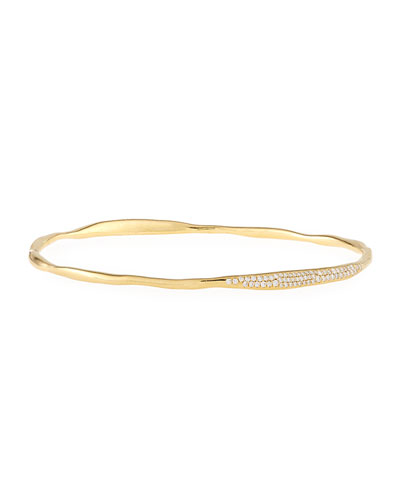 Stardust Station Diamond Bangle in 18K Gold