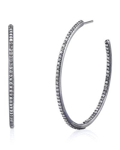 Pavé Diamond Inside-Outside Hoop Earrings