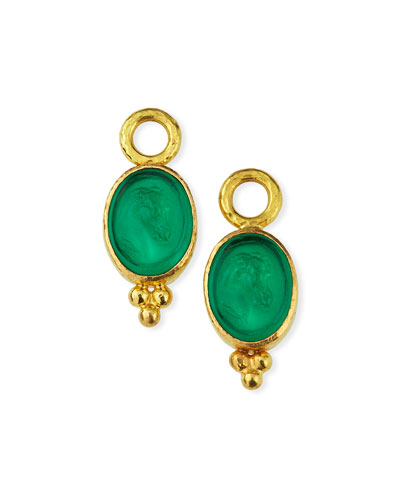 Pine Venetian Horse Profile Earring Charms