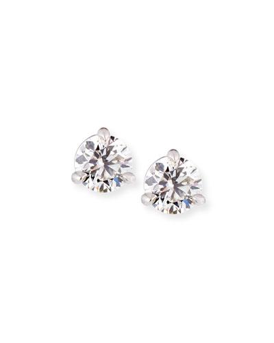 18k White Gold Martini Diamond Stud Earrings, 0.77tcw