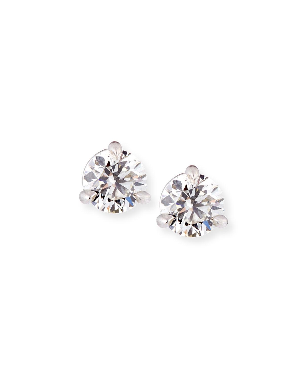 18k White Gold Martini Diamond Stud Earrings