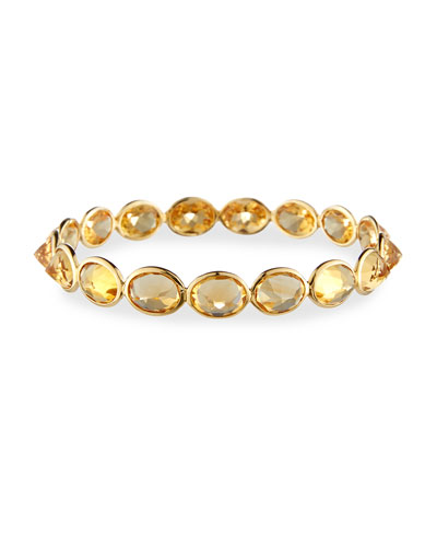 Citrine Bangle Bracelet in 18K Yellow Gold
