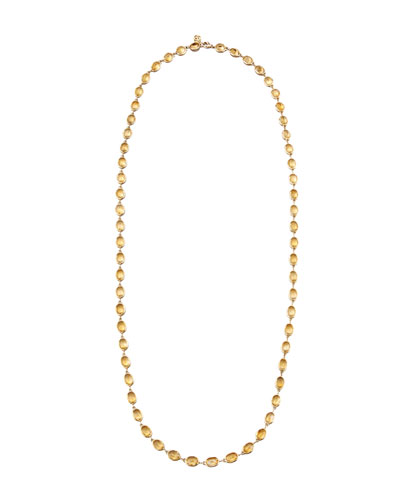 Citrine Station Necklace in 18K Gold, 36