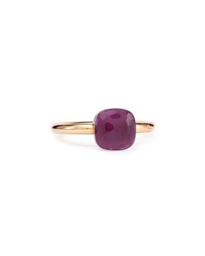 Nudo Rose Gold & Amethyst Mini Ring