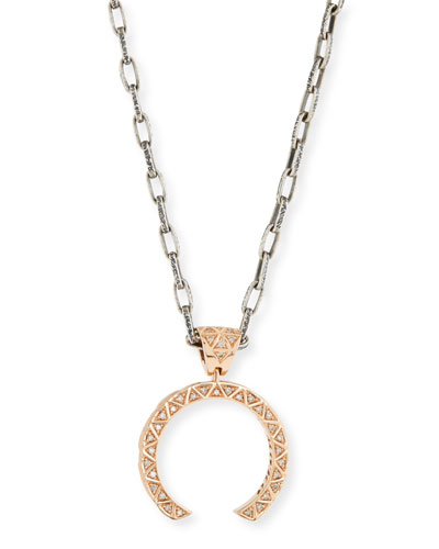 Manawa 18K Rose Gold & Champagne Diamond Necklace