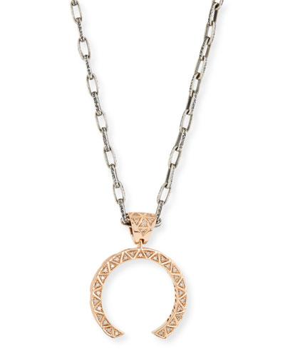 Manawa 18K Rose Gold & Champagne Diamond Necklace