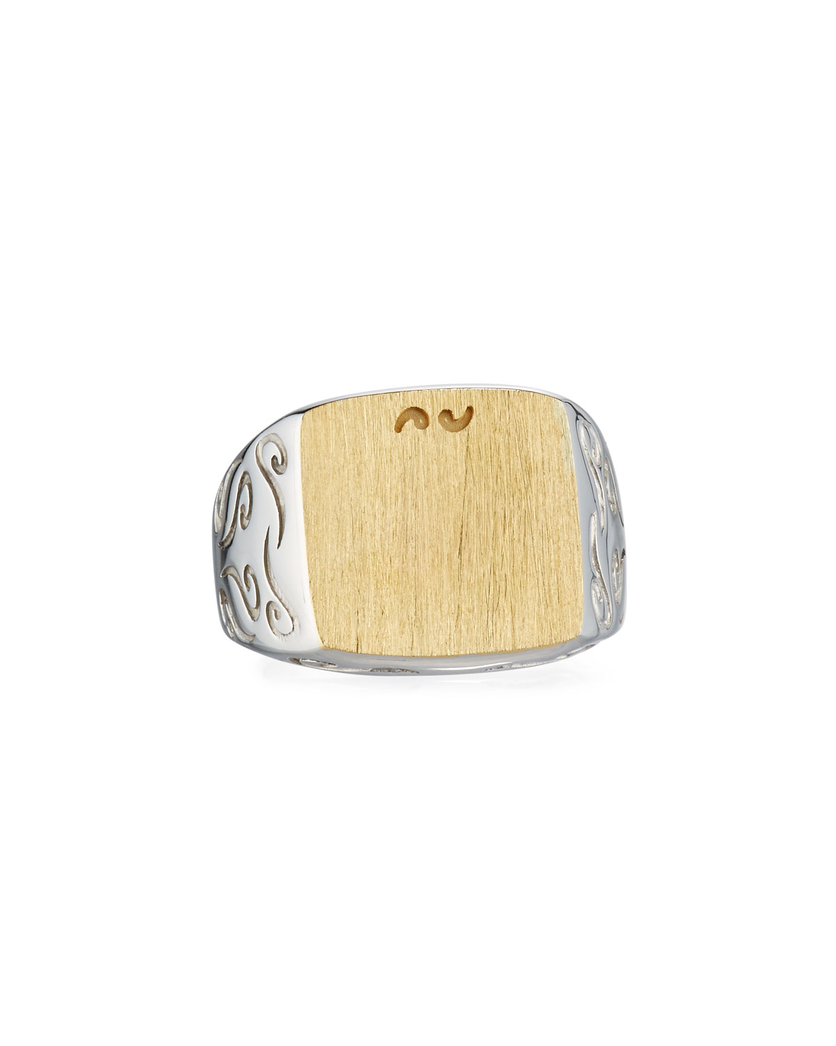 Two-Tone Silver & 18K Gold Ring