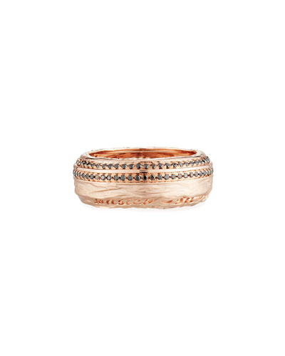 The Other Half 18K Rose Gold Pavé Diamond Ring, Size 10