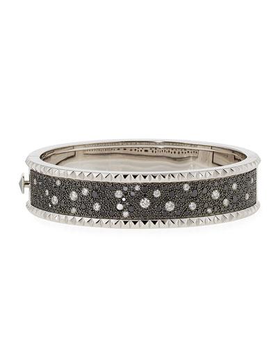 ROBERTO COIN ROCK & DIAMONDS Medium 18K White Gold Bangle Bracelet