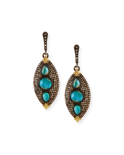 Old World Marquis Opal & Diamond Earrings