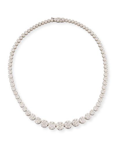 Mosaic Graduated Diamond Collar Necklace